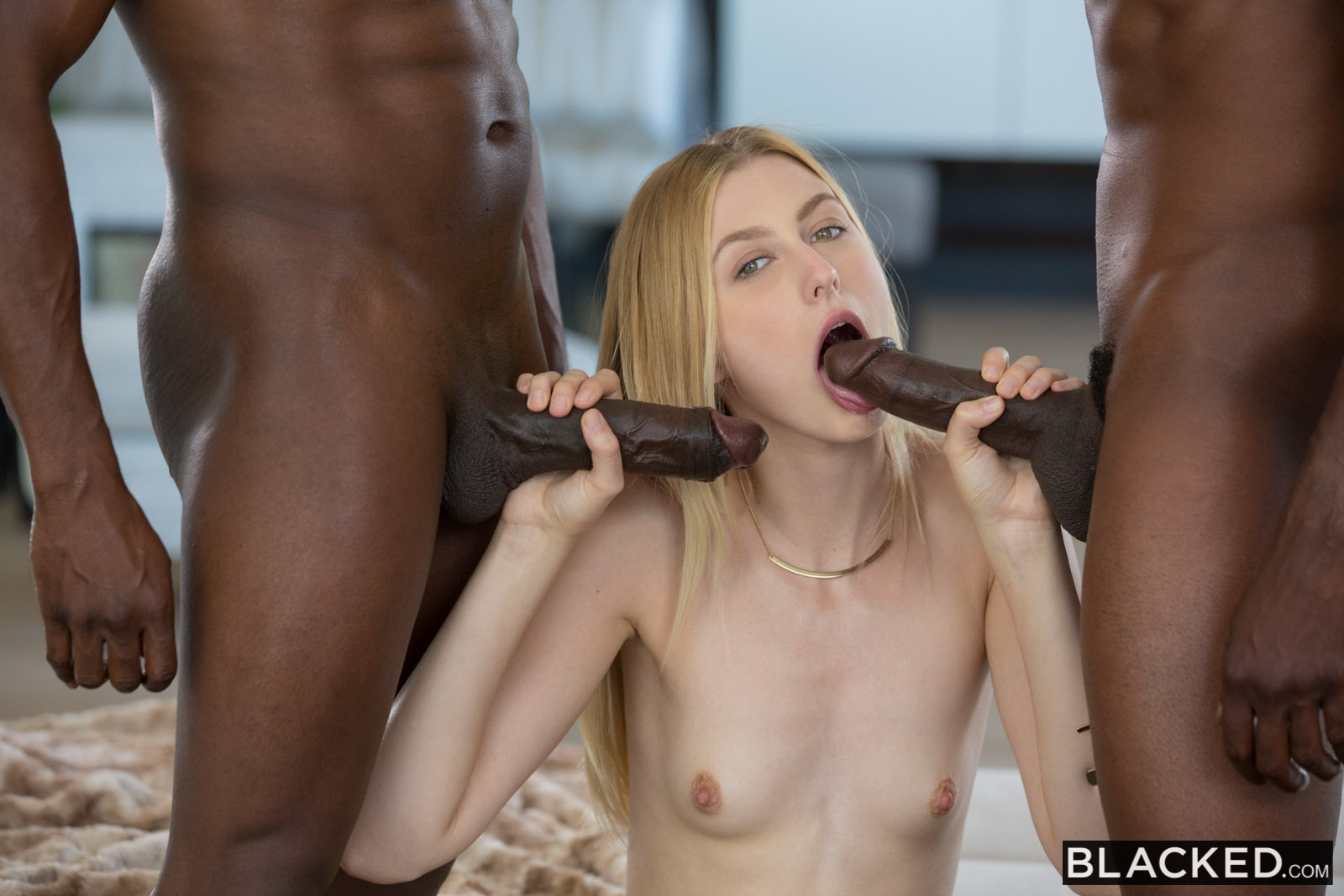 Blacked anal threesome xxx