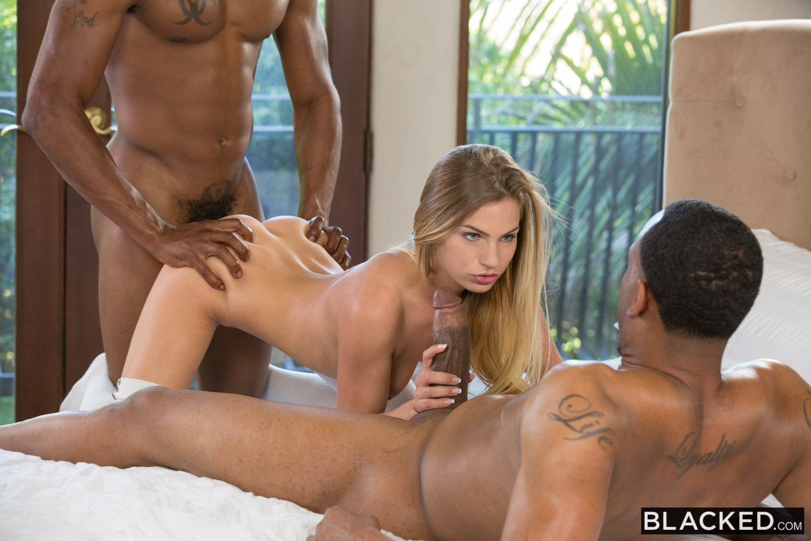 Three guys fuck some asian slut in all her holes 4